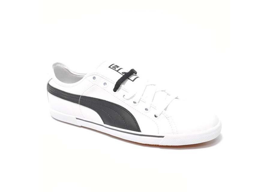 Benecio Leather White Black