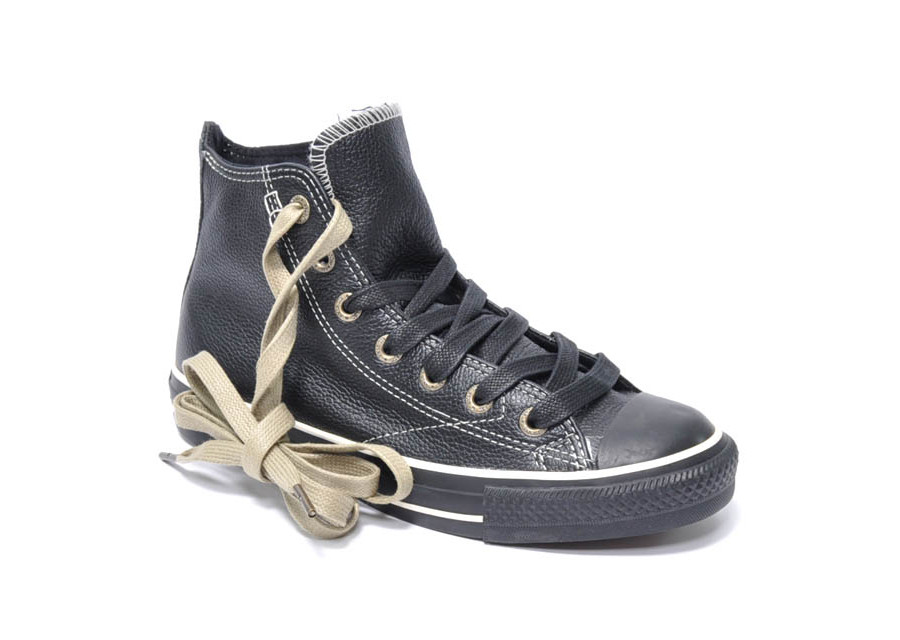 All Star European Hi Leather Black