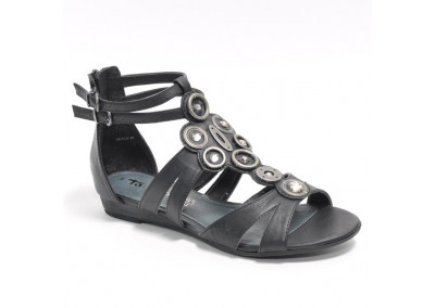 Gladiator Sandals Black Antique