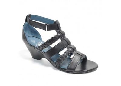 Mid-Heel Sandals Black