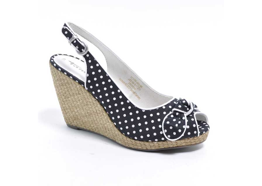 Open Black and White Wedges